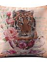 Natureza Tiger algodao / Linen decorativa fronha