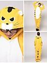Kigurumi Pyjamas Tiger Leotard/Onesie Festival/Högtid Animal Sovplagg Halloween Gul Lappverk Korallfleece Kigurumi För UnisexHalloween /