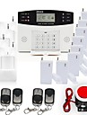 Home Security GSM Alarm System Kit med rök Brandlarm