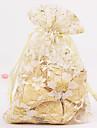 Champagne Translucent Favor Bags - Set of 12
