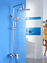 Duscharmaturen - Zeitgenoessisch - Regendusche / Handdusche inklusive - Messing (Chrom)