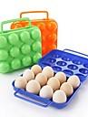 12 girds plast ägg s lådor (slumpmässig färg)