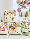 set om 4 vackra landskap bomull / linne dekorativa örngott