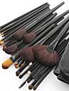 32pcs ensembles de brosses Poil Synthetique Pinceau en Poils de Poney Pinceau en Poils de Chevre Cheval Visage Levre OEil