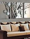 Toile Tendue LED A fleurs/Botanique Traditionnel Classique,Trois Panneaux Horizontale Imprimer Art Decoration murale For Decoration