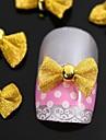 10pcs arc d\'or cravate pour les accessoires de pointes d\'ongle decoration d\'art