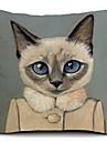 desenhos animados linda gata algodao / linho fronha decorativo