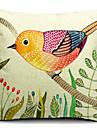 land härlig fågel bomull / linne dekorativa örngott