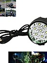 Bike Light , Headlamps / Front Bike Light - 3 Mode 6000-7000 Lumens Rechargeable / Anglehead 18650 x 6 BatteryCamping/Hiking/Caving /