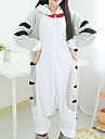 kigurumi Pyjamas Chat / Sweet Home Chi / Cat Cheese Collant/Combinaison Fete / Celebration Pyjamas Animale Halloween Blanc / Gris Mosaique