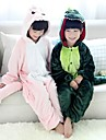 kigurumi Pyjamas Dinosaure Collant/Combinaison Fete / Celebration Pyjamas Animale Halloween Rose Vert Mosaique Kigurumi Pour Enfant
