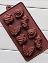 8 hål snigel larvform cake is jelly choklad formar, silikon 19,2 × 10,6 × 2 cm (7,6 × 4,2 × 0,8 tum)