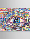 Oil Painting Abstract Eyeball with Stretched Frame Hand-Painted Canvas