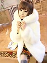 Women\'s Elegant Korean Style Faux Fur Long Sleeve Coat