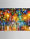 IARTS®Oil Paintings Modern Landscape Rainy Street  Hand-painted Canvas Ready to Hang