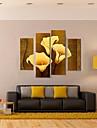 întinsă panza de arta cahle de aur set pictura decorativa din 4