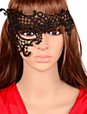 Mascara Cosplay Festival/Celebracion Traje de Halloween Negro Un Color / Encaje Mascara Halloween Unisex