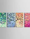 iarts®oil malowania kwiatów Wiosna Lato Jesień Zima z rozciągniętej ramki zestaw 4 ręcznie malowane płótna