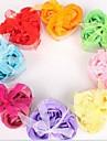 julklappar 3 romantiska hjärtformade ros tvål blommor (slumpvis färg)