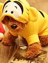 Hundar Dräkter/Kostymer / Huvtröjor / Bandana & Hattar / Outfits Gul Hundkläder Vår/Höst Broderad Cosplay / Halloween