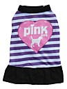Cat / Dog Dress Purple / Pink Dog Clothes Spring/Fall Hearts