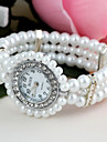 Women's  Round-Shaped Set Diamond Pearl Bracelet Watch (1Pc) Cool Watches Unique Watches