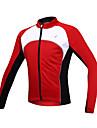 SANTIC Veste de Cyclisme Homme Manches longues Velo Veste Maillot Hauts/Tops Garder au chaud Pare-vent Doublure Polaire Zip frontal