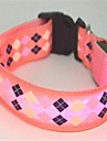 Katter / Hundar Halsband LED Lampor Röd / Rosa Nylon