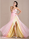 Military Ball / Formal Evening Dress - Candy Pink Plus Sizes / Petite Sheath/Column Sweetheart Floor-length Chiffon
