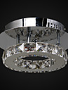 6W Flush Mount ,  Modern/Contemporary Chrome Feature for Crystal / LED Metal Living Room