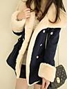Jachetă / PaltonPlus Size-Lung-Manșon Lung-Gros