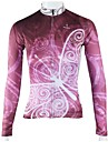 ILPALADINO Maillot de Cyclisme Femme Manches longues Velo Respirable Sechage rapide Maillot Hauts/Tops 100 % Polyester RayurePrintemps
