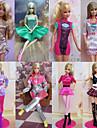 Princesse Costumes Pour Poupee Barbie Rose Robes Pour Fille de Doll Toy