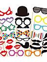 31 PCS Card Paper Photo Booth Props Party Fun Favor(Glasses & Hat & Mustache & Hat)
