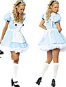 Costumes de Cosplay / Costume de Soiree Conte de Fee Fete / Celebration Deguisement Halloween Bleu Mosaique Robe Halloween / Carnaval