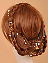 130cm Length Handmade Imitation Pearls Wedding/Party Forehead Jewelry(More Colors)