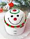 födelsedagspresent jul snögubbe form fiber kreativa handduk (slumpvis färg)