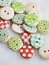 couleur album dessin scraft coudre des boutons en bois de bricolage (10 pieces couleur aleatoire)