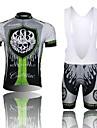 WEST BIKING® Cykeltröja med Bib-shorts Herr Kort ärm Cykel Andningsfunktion / 3D Pad / ReflexremsaBib Shorts / Cykeltröja + cykelshorts