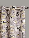 philips ung - två paneler samtida abstrakt konstnärlig blomma gardiner draperier