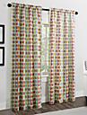 twopages® deux panneaux cercles minimalistes de couleurs multiples contemporaines rideaux opaques
