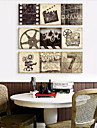 Stretched Canvas Art Vintage Old Times Set of 3