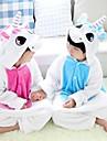 Kigurumi Pyjamas Unicorn Leotard/Onesie Halloween Animal Sovplagg Blå Lappverk Flanell Kigurumi Barn Halloween / Karnival