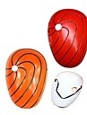 Masque Inspire par Naruto Akatsuki Anime Accessoires de Cosplay Masque Rouge / Orange PVC Masculin
