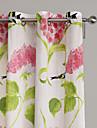 philips unga - (två paneler) samtida bläck målning stil levande färg blommar gardin