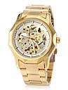 WINNER® Men's Watch Automatic self-winding Skeleton Watch Hollow Engraving Stainless Steel Band Wrist watch / Butterfly Cool Watch Unique Watch