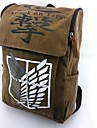 Sac Inspire par Attack on Titan Cosplay Anime Accessoires de Cosplay Sac / sac a dos Marron Nylon Masculin / Feminin