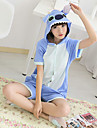 kigurumi Pyjamas Monster Collant/Combinaison Fete / Celebration Pyjamas Animale Halloween Bleu Mosaique Coton Kigurumi Pour Unisexe