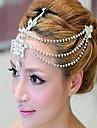 Mujer Diamantes Sinteticos / Aleacion Celada-Boda Cadena para la Cabeza
