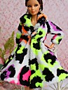 Fete / Soiree Robes Pour Poupee Barbie Blanc / Noir / Vert clair Hauts Pour Fille de Doll Toy